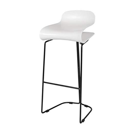 Barkruk, Scandinavische persoonlijkheid, modern, creatieve mode, hoge stoel, café, massage, woonkamer, schoonheid, stoel 55cm Wit.