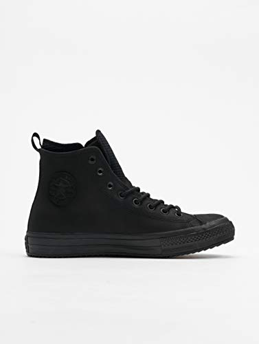 Converse Womens Chuck Taylor All Star Waterproof Leather High Top Black/Black/Black Sneaker - 10 Men - 12 Women