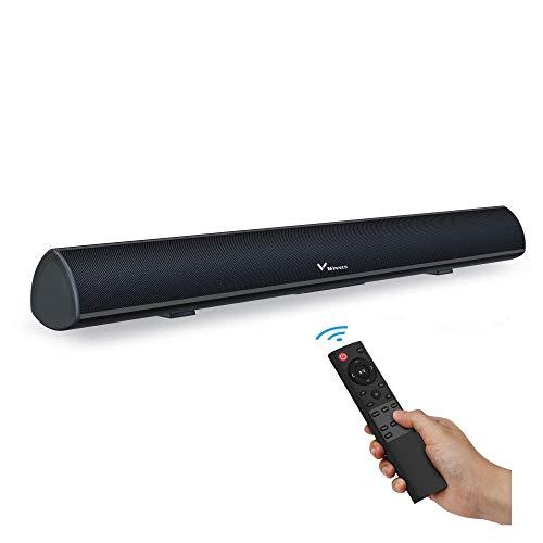 Soundbar mit Subwoofer, Soundbar für TV Gerät, Bluetooth 5.0, Einstellbarer Bass, DSP-Technologie(mit RCA, USB, Optisch, AUX, Bluetooth)