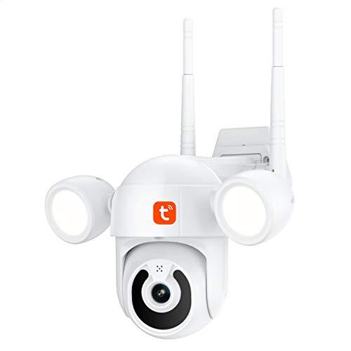 Tuya Smart Life Cámara IP de 3MP, WIFI Cámara PTZ de video con visión nocturna al aire libre, Vigilancia CCTV de seguridad para el hogar,Camera+ 32gb
