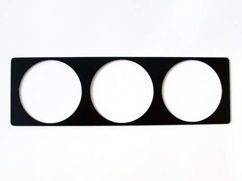 Radioschacht Halter universal für 3 Zusatzinstrumente Instrumentenhalter Anzeigenhalter Halter für VDO Turbo DIN Blende Radio Rahmen Abdeckung MP3 DAB