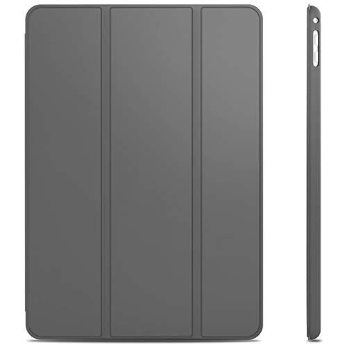 JETech Hülle Kompatible mit iPad Air 2, Schutzhülle mit Ständer Funktion & Auto Schlaf/Wachen, Dunkel Grau
