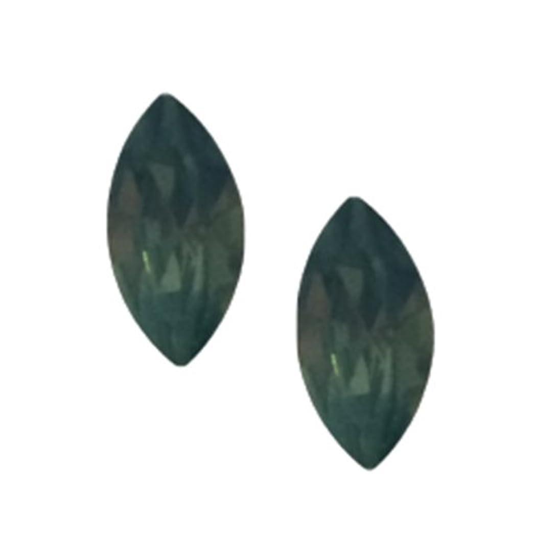 組み込む小道具落胆するPOSH ART ネイルパーツ馬眼型 3*6mm 10P グリーンオパール