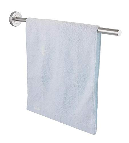 Jan Max Handtuchhalter einarmig ohne Bohren für Wandmontage, ausziehbarer Handtuchhalter elter Handtuchstange zum Kleben statt Bohren für Bad und Küche
