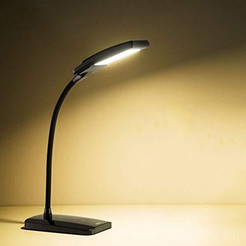 Fevilady Lámpara de mesa con cuello de cisne regulable LED de 3 niveles, sensible al tacto