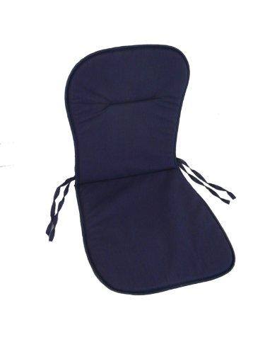 Maffei Art 521 Coussin Coton Monobloc Bas cm. 75x36/40x2. Made in Italy. Couleur Bleu. Lot de 4 pièces