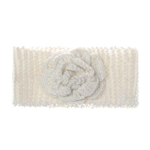 Lemon-Land Haaraccessoires Winter Leuke Warm Gebreide Baby Hoofdband Baby Haarband Turban Kleur: wit