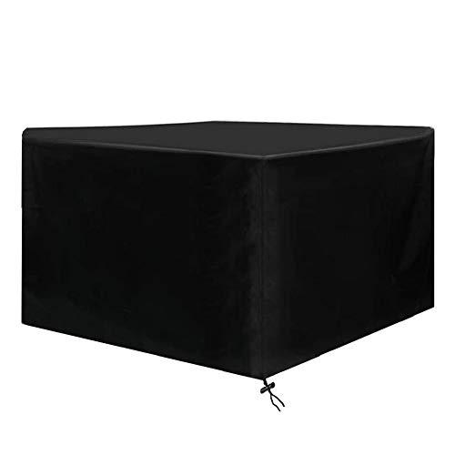 Osarke Fundas para Muebles de Jardin Funda Mesa Exterior Impermeable 420D Oxford Funda Mesa Jardin Cubierta Protectora Anti-UV 126 X 126 X 74cm