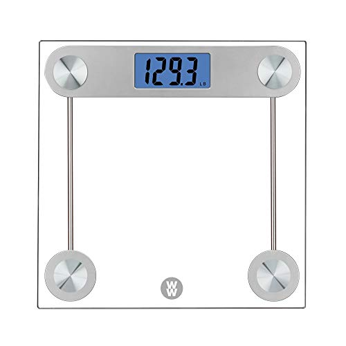 WW Scales by Conair Digital Glass Bathroom Scale, 400 Lbs. Capacity