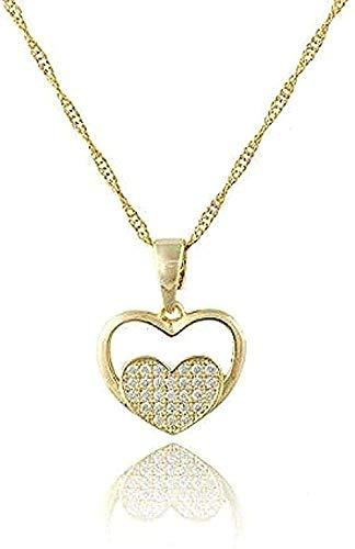 Lindo corazón colgante, collar, regalo de joyería para dama, mujer, color dorado, colgantes y collar de diamantes de imitación, encanto árabe, regalo de mujer para mujeres, hombres, regalos, collar co