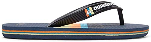 Quiksilver Molokai Slab Flops for Boys 8-16 Flip-Flop, BLACK/BLUE/BLUE, 37 EU