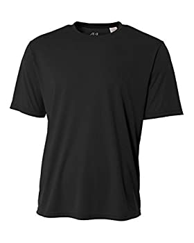 A4 Men s Cooling Performance Crew Short Sleeve T-Shirt Black Large