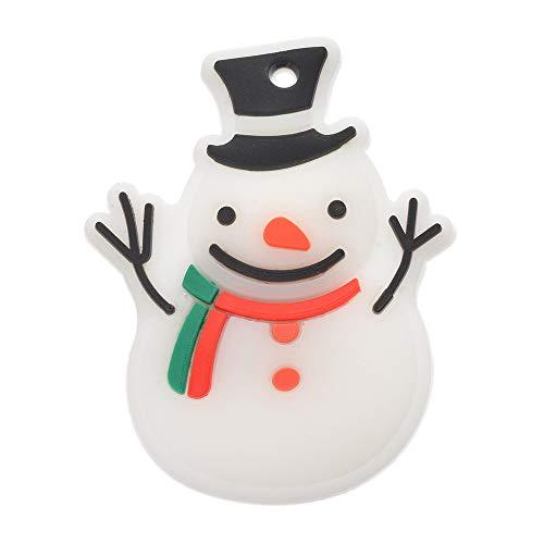 Godagoda Spilla Pins Ragazza Donna Decorazione Natale Lucido Luminoso LED Albero di Natale Babbo bohomme di Neve Badge PVC Bohomme de Neige