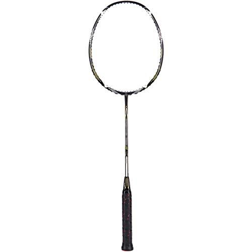 DXIUMZHP Raquetas Raqueta De Bádminton Profesional Full Carbon, 82g, Raqueta De Entrenamiento para Jugadores Senior (Color : Black, Size : 67.5cm)