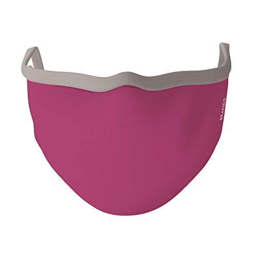PHRASE 1 by FotoPremio Mund-Nasen-Maske 3-lagig in pink | Gesichtsmaske bis 60°C waschbar und wiederverwendbar | Atemmaske hergestellt in der EU