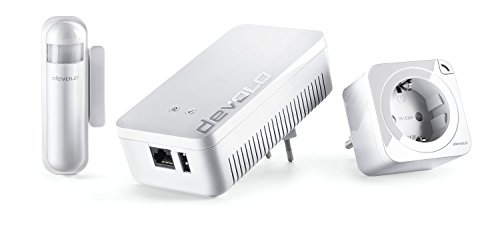 Devolo Home Control Starter Paket 2.0 (Z-Wave Hausautomation, Haussteuerung per iOS/Android App, einfache Installation, Smart Home Starter Set: Zentrale, Schaltsteckdose,...