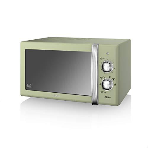 Swan SM22130GNRetro Manual Microwave, 20 Litre, 800 W, Green