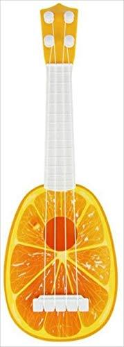 リタプロショップR フルーツギター 子供 ミニ 果物 ウクレレ かわいい おもしろ 玩具 (オレンジ)