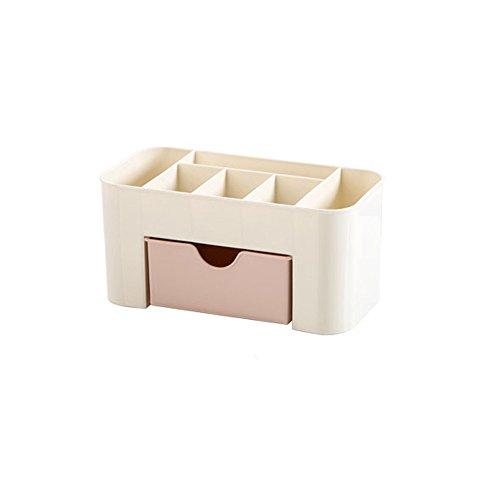 Gaddrt, Scatola porta cosmetici, scatola organizer con cassetti, portagioie, salvaspazio, 2 pezzi Pink