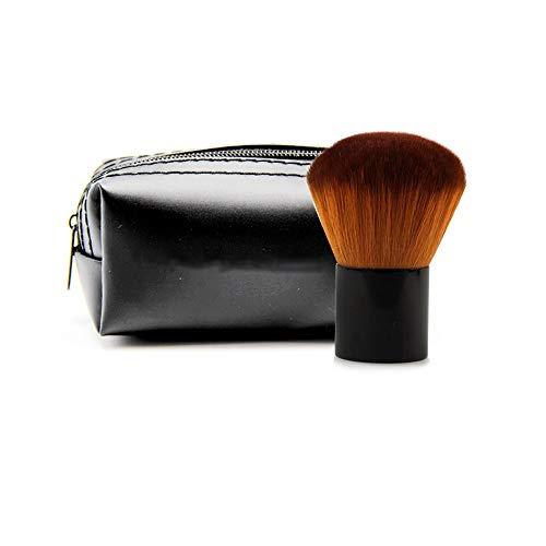 Drametree Poil court tête de champignon blush pinceau poignée courte poudre de poudre de miel poudre de brillance capacité de réparation lustre pinceau de maquillage maquillage avec sac manche doux de