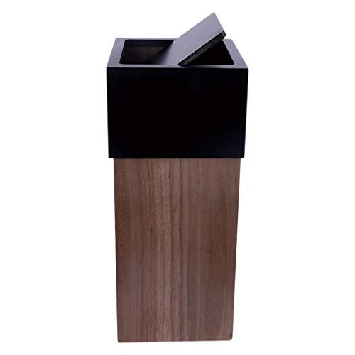 Cubos de Basura para Exterior Simples Nórdicos Papeleras de Madera Grandes Cubos de Basura Basura y Reciclaje Almacenamiento y Organización Basura y Reciclaje Cubos de Reciclaje Cubos de Basura