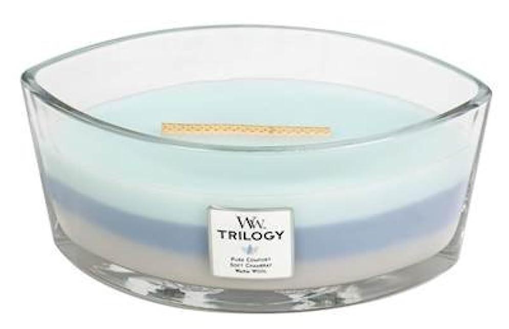 溶けたパレード甥WOVEN COMFORTS TRILOGY - HearthWick Flame Scented Candle by WoodWick - 3 in One