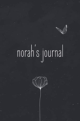Norah's Journal, Stylish Minimal dotted bullet journal To Write In For Women And Girls: Personalized Floral bullet journal dot grid notebook With girl ... spreads for university + college + work