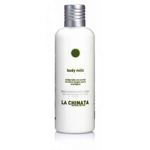 Body milk elaborado coa aceite de oliva virgen extra ecológico 250 ml marca La Chinata