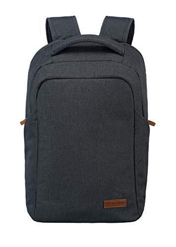 travelite Handgepäck Rucksack mit Laptop Fach 15,6 Zoll, Gepäck Serie BASICS Safety Daypack: Sicherer Rucksack mit verstecktem Hauptfach, 096311-05, 46 cm, 23 Liter, anthrazit (grau)