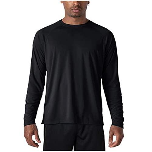 N\P Camiseta deportiva de manga larga para hombre, para verano, cuello o pesca
