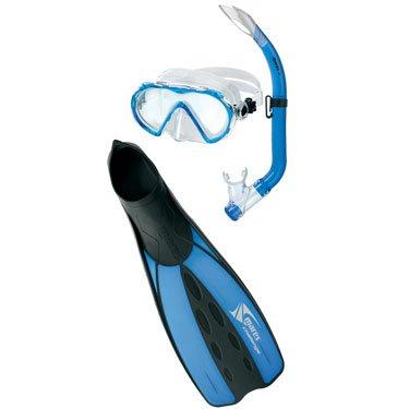 Set Mares Maschera + Snorkel + Pinne Challenge Alize Jr.