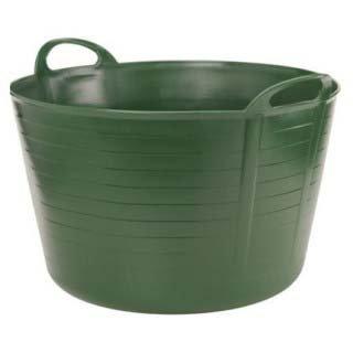 Stewart Plastics - Catino Flessibile per Giardinaggio, Verde Scuro, 12 Litri