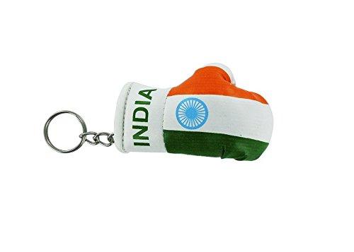Akacha sleutelhanger, bokshandschoen, Indiase vlag