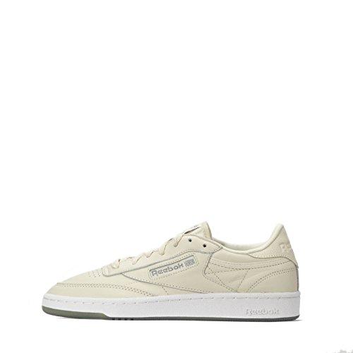 Reebok Classic Club C 85 Metals Damen Sneaker, Elfenbein - Papier Weiß Gun Metal Weiß - Größe: 5 UK