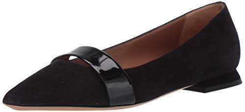 Emporio Armani Damen Pointy Ballet Flat Spitzer Ballett flach, schwarz, 40 EU