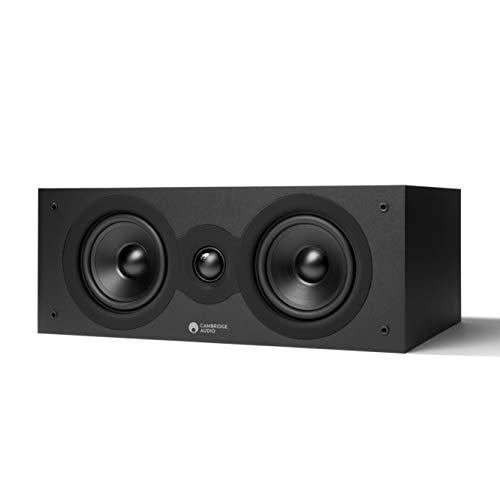Cambridge Audio SX-70 Center Lautsprecher für HiFi Anlage oder Heimkino Soundsystem, Klarer Definierter Ton und Kräftiger Bass mit Breiter Klangbühne, Mattschwarze Boxen
