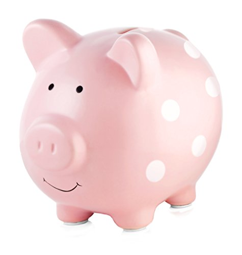 Piggy Bank Easter Unbreakable Plastic Money Bank Coin Bank for Girls and Boys Baby Shower Practical Gifts for Birthday Medium Size Piggy Banks Pink