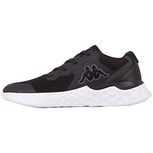 Kappa Unisex Zibo Sneaker, Black White, 43 EU