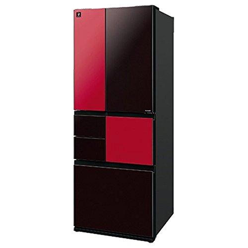 シャープ 501L 6ドア冷蔵庫(ブラック&レッド)SHARP プラズマクラスター冷蔵庫 MiYABi SJ-GTR500