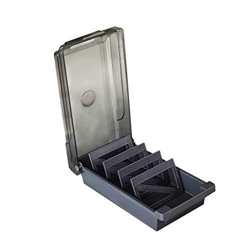 NUOBESTY - Organizador de tarjetas de visita para la parte superior de la mesa, soporte para tarjetas y archivos, caja de almacenamiento de tarjetas, accesorios de oficina (negro)