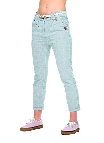 Ragwear Wolfky - Pantalones de tela para mujer, estilo vaquero, veganos gris claro 30