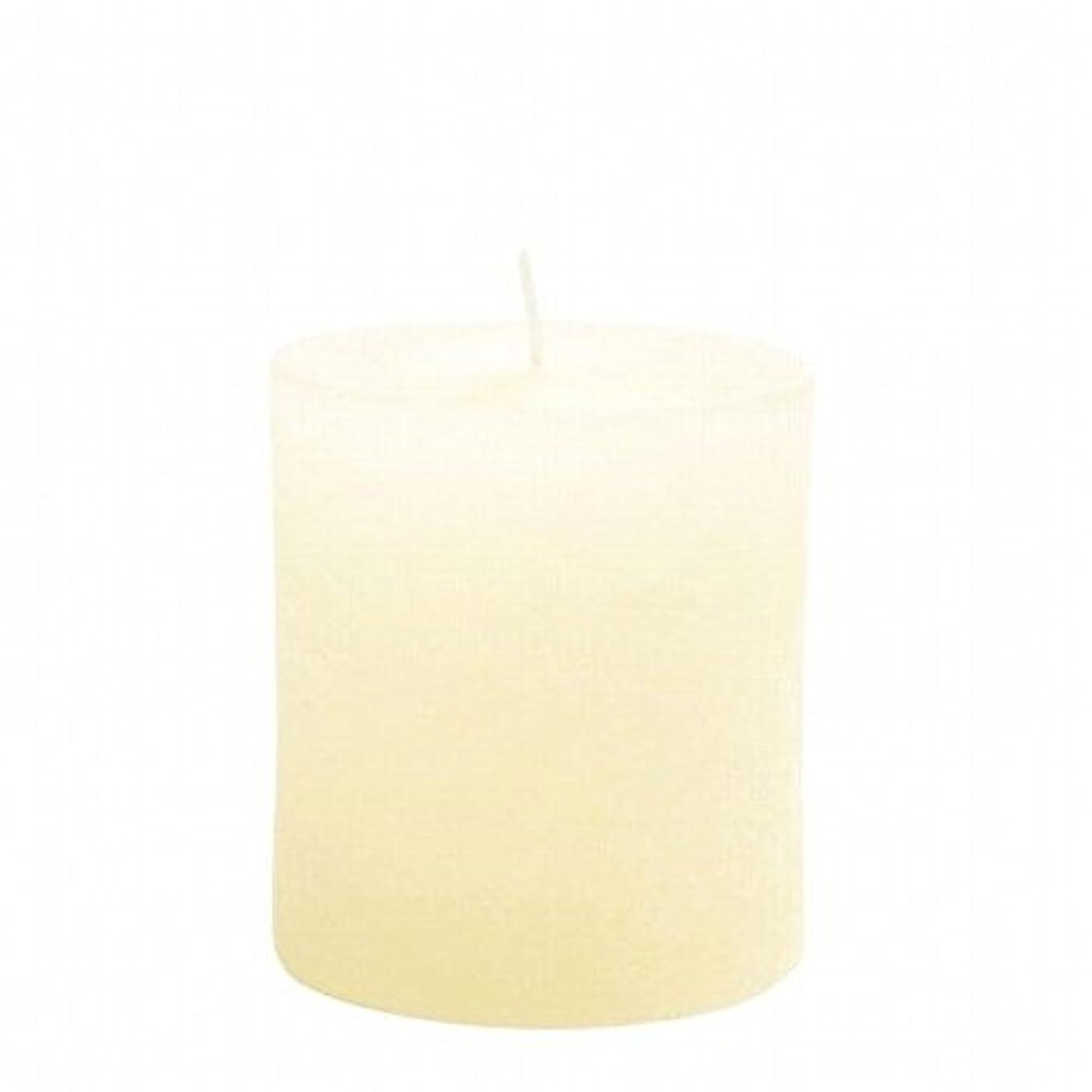 ぐるぐる寮サンプルkameyama candle(カメヤマキャンドル) ラスティクピラー70×75 「 アイボリー 」(A4930010IV)
