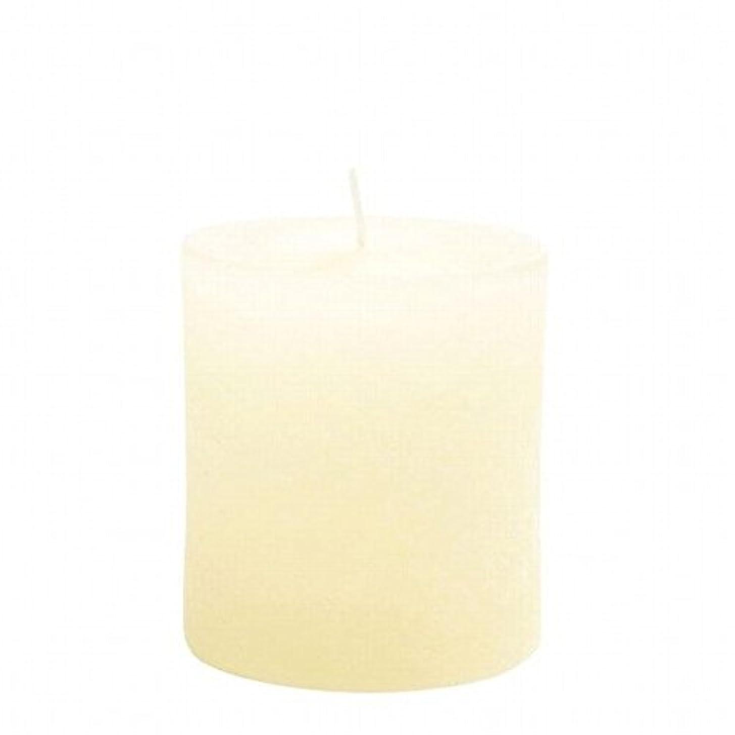 エール特権学生kameyama candle(カメヤマキャンドル) ラスティクピラー70×75 「 アイボリー 」(A4930010IV)