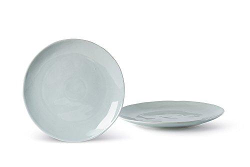 Fill Salbei Set 4Stück Teller aus Steinzeug, Keramik, Wasser, 20x 20x 2cm