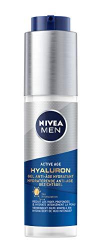 NIVEA MEN Active Age Soin de Jour Anti-Âge Complet (1 x 50 ml), Soin visage enrichi en créatine et caféine, Soin homme 6-en-1 hydratant & anti-âge à la texture légère