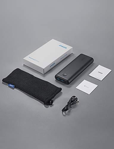 AnkerPowerCoreII20000(20000mAh超大容量モバイルバッテリー)【PSE認証済/PowerIQ2.0搭載/LEDWheel】iPhone&Android対応(ブラック)