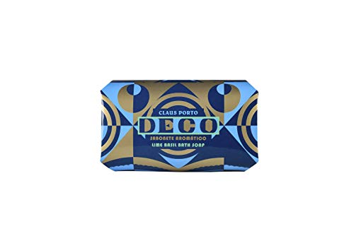 Claus Porto Deco Large Bath Soap, Lime Basil, 12.35 oz