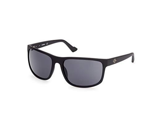 Harley-Davidson Eyewear HD0947X Occhiali, Matte Black/Smoke, 63 Uomo