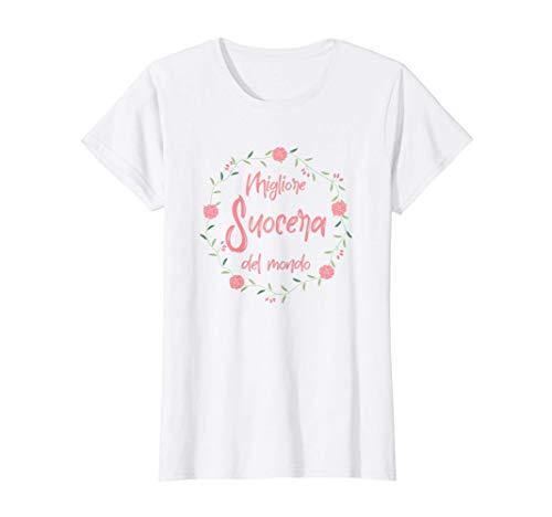 Donna Migliore Suocera del Mondo Festa della mamma Super Maglietta