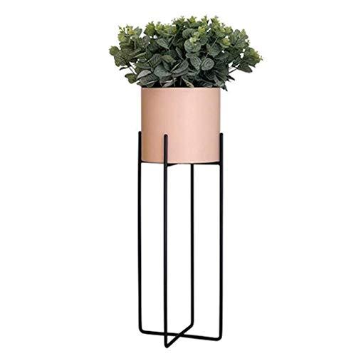 HDGAB Nordic smeedijzeren bloem standaard, eenvoudige en moderne kamerplant op de vloer bloempot standaard voor woonkamer decoratie balkon bloem standaard